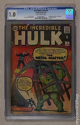 Incredible Hulk (1962-1999 1st Series) #6 CGC 1.0 0230328006