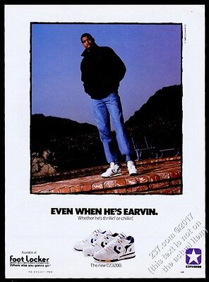 1989 Magic Johnson photo Converse CZ3200 basketball shoes vintage print ad