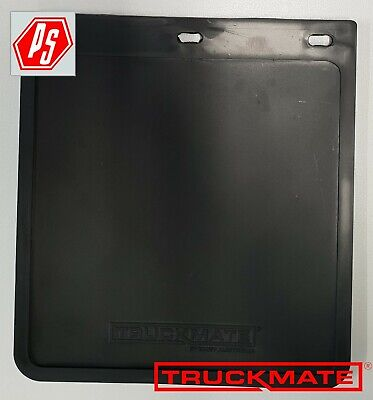 2 TRUCKMATE PLAIN MUD FLAPS BLACK 250mm x 230mm (10 inch drop x 9 inch wide)