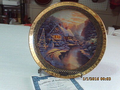 "Thomas Kinkade ""Christmas Evening""  9.25"" Plate 2007 9th Bradford Exchange"