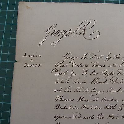 Copy Royal Licence for name change signed by GEORGE 1V 1822