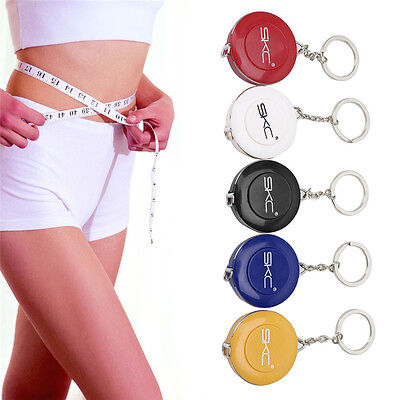 60 Inch 1.5M Sewing Tailor Retractable Measure Ruler Soft Flat Tape Keyring
