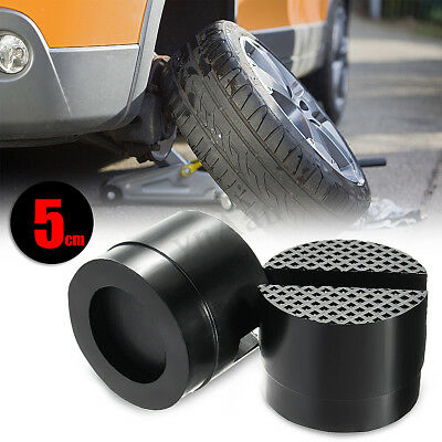 2Pcs Universal Slotted Frame Rail Floor Jack Guard Lift Tool Rubber Pads For Car