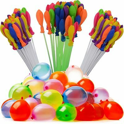 111 Fast Fill  Water Balloons Self Tying Bunch Balloon Summer Toys