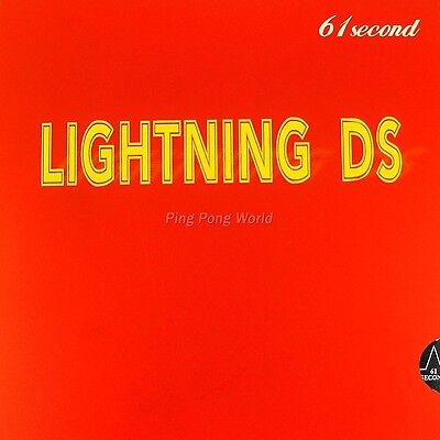 61second Lightning DS NON-TACKY Pips-in Ping Pong rubber with sponge black 2.2mm
