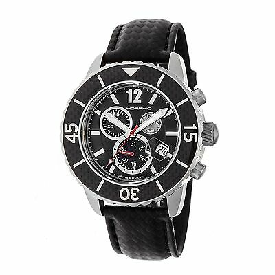 Morphic Morphic M51 Series Swiss Leather Strap Watch, Silver/Black, : MPH5101