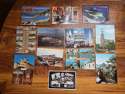 POSTCARDS Foreign various ( 12 )