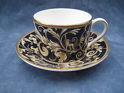 Wedgwood Cornucopia Accent Shallow Breakfast Tea Cup And Saucer