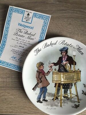 "Lovely Wedgewood Collectors Edition Plate - ""The Baked Potato Man"" John Finnie"