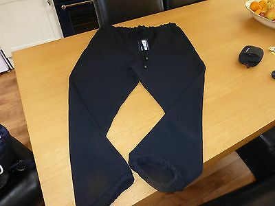 Bnwt M & S Ladies Full Length Black Trousers With Cuff Bottoms Size 14