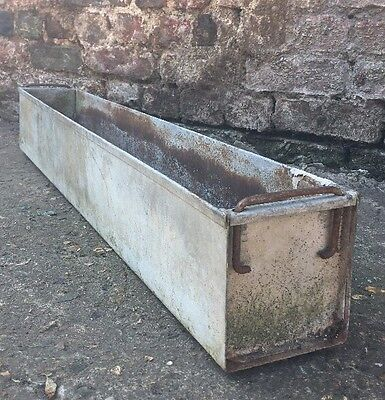 Galvanised tub trough industrial metal vintage planter for Large metal tub for gardening