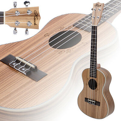 "New 26"" 18 Frets Exquisite Zebra Wood 4 String Tenor Ukulele Uke Hawaiian Guitar"