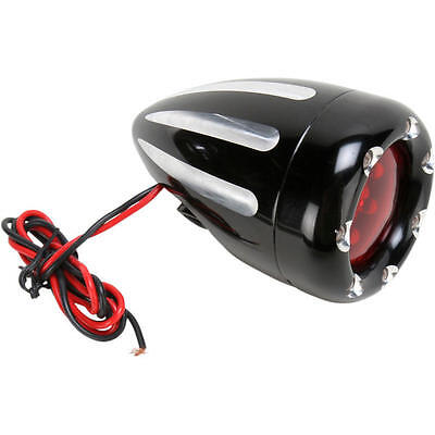 Arlen Ness Deep Cut Turn Signal With Fire Ring LED Dual Circuit Black/Red