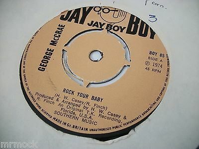 "GEORGE McCRAE- ROCK YOUR BABY VINYL 7"" 45RPM p"