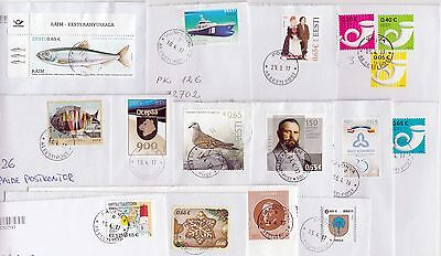 Estonia: Letters  With 2016-2017 Different Stamps , Sent March-April 2017
