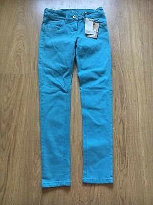 Bnwt Girls Turquoise Next Skinny Jeans Age 11