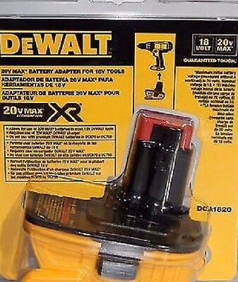 Dewalt DCA1820 18V-20V Battery Adaptor- Brand New Factory Sealed