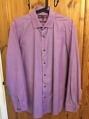 Mens Next Lilac Long Sleeve Slim Fit Shirt Size Small Worn