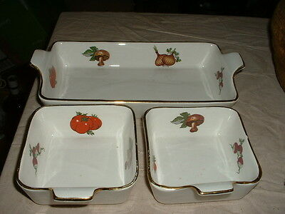 Unusual Vintage 1960S Lord Nelson Pottery Vegetable Dishes Set