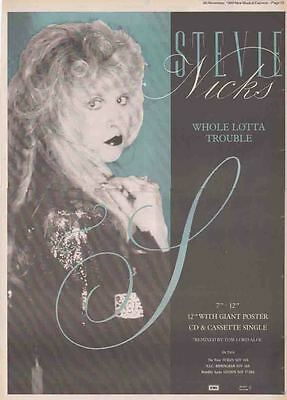 STEVIE NICKS : Whole Lotta Trouble -Poster Size NEWSPAPER ADVERT- 28cm X 39cm
