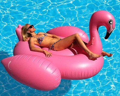 Giant Flamingo Inflatable Swim Ring Swimming Pool Water Float Toy Lilo XL Raft