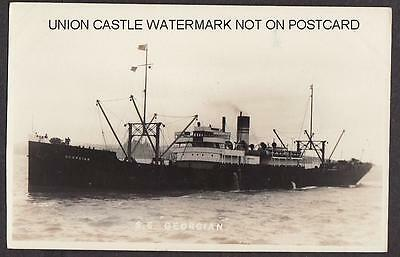 Postcard South Atlantic Steamship Company Ss Georgian Delaware Usa Built 1918