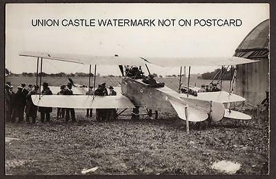 Real Photo Postcard Size German Biplane Aviatic Pilot Victor Stoeffler Aircraft