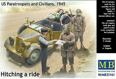 """MASTER BOX™ 35161 US Patrol & Civilians, 1945 """"Hitching a ride"""" in 1:35"""