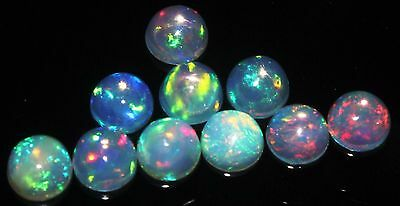 4x4mm Natural Ethiopian Welo Fire Opal Calibrated Round Cabochons10Pieces Lot*80