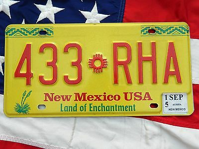 NEW MEXICO licence plate plates USA NUMBER AMERICAN REGISTRATION