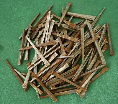 "2 1/4"" Square Cut Nails (100) Lot New Old Stock"