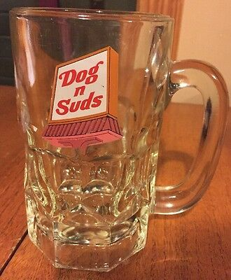 Vintage DOG n SUDS Root Beer Mug Glass Heavy 6""