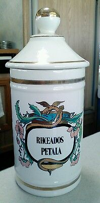 Antique French apothecary jar RX Victorian 1800s