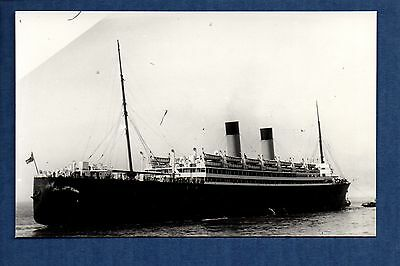 White Star Line - Laurentic (1927) - photograph postcard size