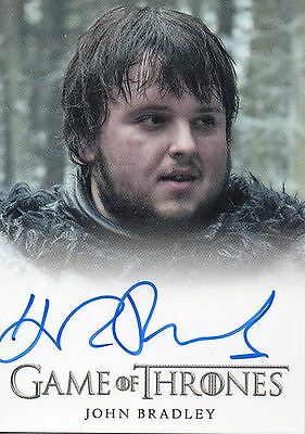 Game of Thrones Season 3 - John Bradley Autograph Card Samwell Tarly