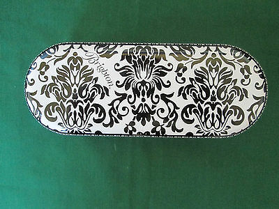 Brighton Black White Large Sunglass Tin New! Holds Small To Large Sunglasses !