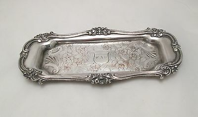 A Good Old Sheffield Plated Snuffer Tray with Floral Detailing - c1800