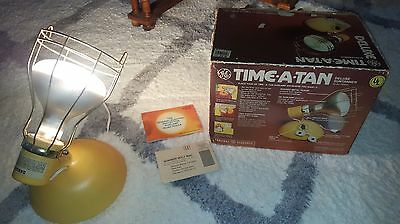 VTG NOS 80s RSK6A GE Deluxe Time-A-Tan Suntanner Tanning Lamp with Bulb RARE