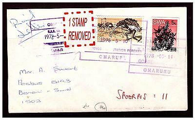 South Africa Rail Letter. OMARURU. Stamp Removed. 1978. Used.. #2259