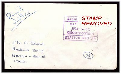 South Africa Rail Letter. GROOTFONTEIN. Stamp Removed. 1978. Used.. #791