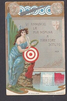 Italy - Military Regimental Nomination for Marksman - Early chromo