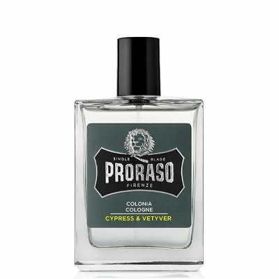 Proraso Cologne Cypress & Vetyver 100ml Mens Aftershave Fragrance