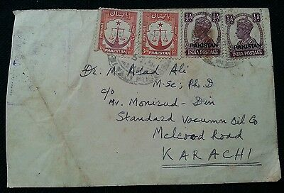 Pakistan Postaly Used Cover With Overprint Stamps L@@k!!