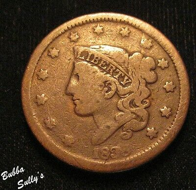 1838 Coronet Head Large Cent <> A FINE Coin