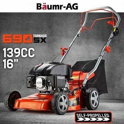 """NEW 139cc 16"""" 5HP 4-Stroke Air-cooled Baumr-AG Self-Propelled Garden Lawn Mower"""