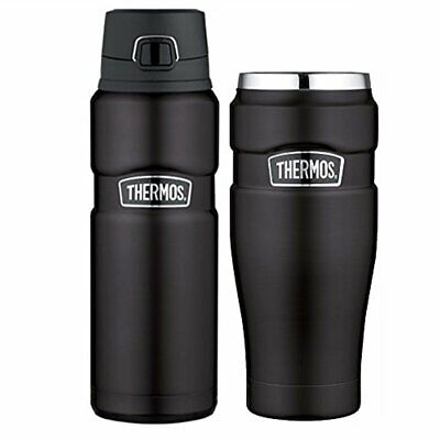 Thermos Stainless Steel Insulated 24oz Drink Bottle and 16oz Travel Tumbler