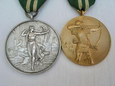 2 Grand National Archery Society Award Medals Dated 1971.