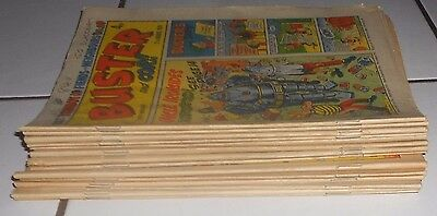 Lot Of 14  Buster And Cor Comics Inc Christmas  , 1974 , All G/ Vg
