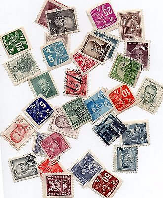 35 Stamps Czechoslavakia - Mixed Lot - Used/mint/ Imperforates - Prior To 1960