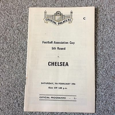 Crystal Palace V Chelsea, Fa Cup 5Th Round, 1969-70